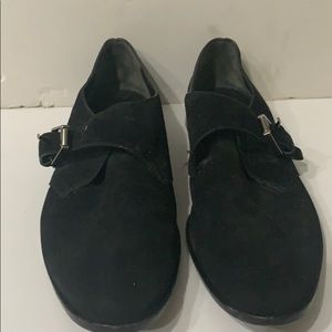 ALEXANDER WANG BLACK SUEDE POINTED TOE SHOES SZ 39
